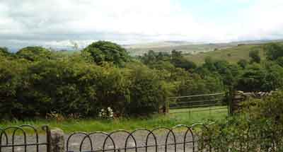 View from front door onto Galloway Gate and across to the Howgill fells